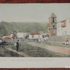 Postales: SANTA CRUZ DE LA PALMA, OLD CHURCH, ANTIGUA IGLESIA, ARTES GRAFICAS GIJON, COLOREADA Y SIN DIVIDIR, . Lote 73571231