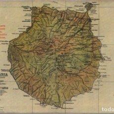 Postales: GRAN CANARIA - MAPA DE LA ISLA. Lote 74757899