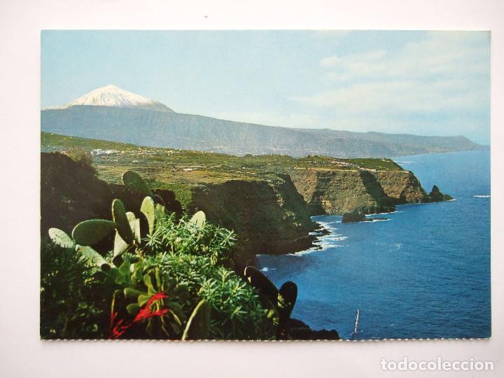 POSTAL TENERIFE - PAISAJE CON TEIDE Y MAR - 1971 - FARDI 131 - SIN CIRCULAR (Postales - España - Canarias Moderna (desde 1940))