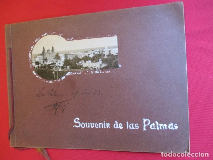 CANARIAS - MAGNIFICO ALBUN ' SOUVENIR DE LAS PALMAS ' 24 PAGINAS CON FOTOTIPIAS , HACIA 1920 + INFO (Postales - España - Canarias Antigua (hasta 1939))