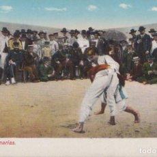 Postales: LUCHA EN CANARIAS. Lote 80529929