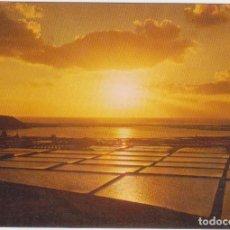 Postales - Lanzarote. Lago y Salinas Janubio. Puesta de sol - 80650934