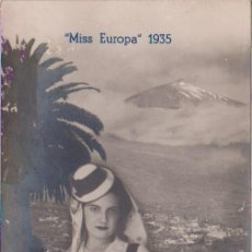 Postales: TENERIFE - (CANARIAS) MISS EUROPA 1935. Lote 82908980