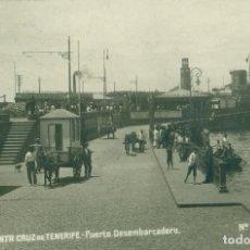 Postais: SANTA CRUZ DE TENERIFE. PUERTO DESEMBARCADERO. CIRCULADA EN 1922. FOTO J G.. Lote 83598524