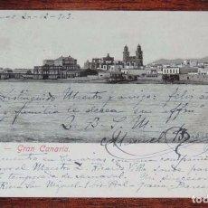Postales: POSTAL DE LAS PALMAS, GRAN CANARIA, BLAS RAMIREZ, N. 13838, CIRCULADA EN 1903, SIN DIVIDIR.. Lote 84031664