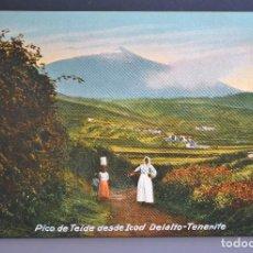 Postales: TENERIFE, PICO DE TEIDE DESDE ICOD. FOTO M.BAEZA. Nº 10 NC. Lote 149395369