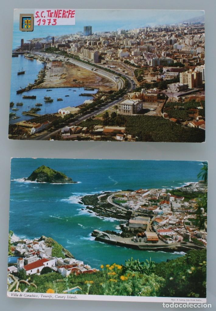ANTIGUAS POSTALES SANTA CRUZ DE TENERIFE: VISTA PANORAMICA VILLA GARACHICO – AÑOS 60 CIRCULADAS (Postales - España - Canarias Moderna (desde 1940))