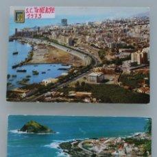 Postales: ANTIGUAS POSTALES SANTA CRUZ DE TENERIFE: VISTA PANORAMICA VILLA GARACHICO – AÑOS 60 CIRCULADAS. Lote 87141928