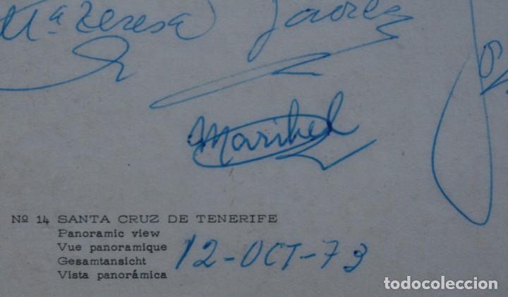 Postales: ANTIGUAS POSTALES SANTA CRUZ DE TENERIFE: VISTA PANORAMICA VILLA GARACHICO – AÑOS 60 CIRCULADAS - Foto 4 - 87141928