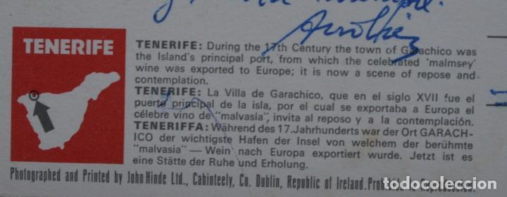 Postales: ANTIGUAS POSTALES SANTA CRUZ DE TENERIFE: VISTA PANORAMICA VILLA GARACHICO – AÑOS 60 CIRCULADAS - Foto 5 - 87141928