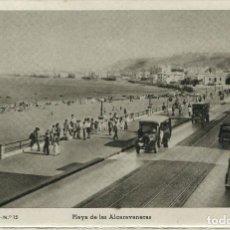 Postales: LAS PALMAS--PLAYA DE LAS ALCARAVANERAS-FOTO BAENA Nº 15 RARA. Lote 87515156