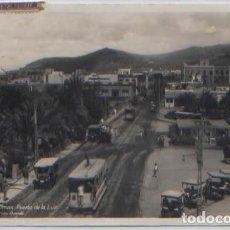 Postales: POSTAL PUERTO DE LA LUZ LAS PALMAS GRAN CANARIA VISTA PARCIAL TRANVIAS COCHES ANTIGUOS ED. BAENA. Lote 89049716