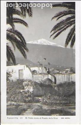P- 7004. POSTAL TENERIFE, EL TEIDE DESDE EL PUERTO DE LA CRUZ. Nº40. ARRIBAS. (Postales - España - Canarias Moderna (desde 1940))