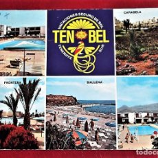 Postales: LAS GALLETAS (TENERIFE). 79 TEN-BEL HOTELPARK. GLOBAL TRADERS. USADA CON SELLO. Lote 91430230