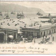 Postales: CANARIAS TENERIFE DORSO SIN DIVIDIR ESCRITA 1902. Lote 91550215