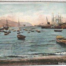 Postales: CANARIAS TENERIFE DORSO SIN DIVIDIR ESCRITA 1907 A BOSTON MAT TRANSITO PARIS. Lote 91550295