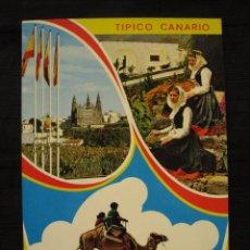 Postales: POSTAL ISLAS CANARIAS - TIPICO CANARIO - CIRCULADA.. Lote 93008300