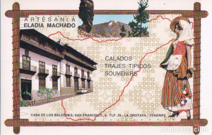 POSTAL OROTAVA - TENERIFE - ARTESANIA TRAJES TÍPICOS ELADIA MACHADO - SELLO HOTEL SAN FELIPE (Postales - España - Canarias Moderna (desde 1940))