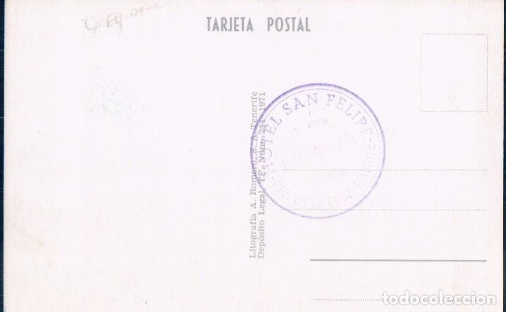 Postales: POSTAL OROTAVA - TENERIFE - ARTESANIA TRAJES TÍPICOS ELADIA MACHADO - SELLO HOTEL SAN FELIPE - Foto 2 - 93040405