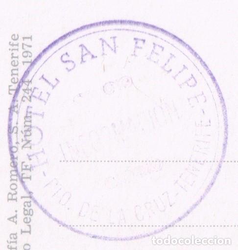 Postales: POSTAL OROTAVA - TENERIFE - ARTESANIA TRAJES TÍPICOS ELADIA MACHADO - SELLO HOTEL SAN FELIPE - Foto 3 - 93040405