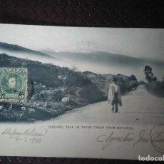 Postales: TENERIFE. PEAK OF TEYDE TAKEN FROM MATANZA CIRCULADA EN 1903. Lote 93113340