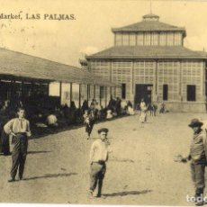 Postales: POSTAL ANTIGUA MARKET LAS PALMAS. Lote 94174555