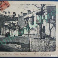 Postales: POSTAL ANTIGUA BARRANCO DE SANTA CRUZ DE LA PALMA. CANARIAS. AÑO 1902. MATASELLADA. Lote 94223685