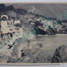 Postales: POSTAL ANTIGUA. LA PALMA. CANARIAS. M.R. QUINTERO. MUJERES EN LA COSTA. Lote 94400898