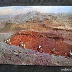 Postales: POSTAL LANZAROTE ( CANARIAS ) - Nº 4 - SUBIDA A LAS MONTAÑAS DEL FUEGO.. Lote 96084011