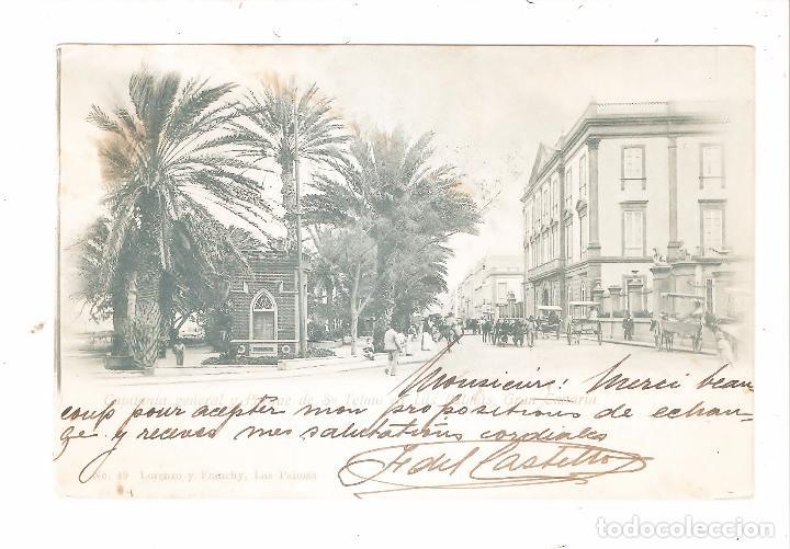 LAS PALMAS GRAN CANARIA CAPITANIA GENERAL Y PARQUE DE SAN TELMO 1902. (Postales - España - Canarias Antigua (hasta 1939))