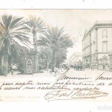 Postales: LAS PALMAS GRAN CANARIA CAPITANIA GENERAL Y PARQUE DE SAN TELMO 1902.. Lote 44213517