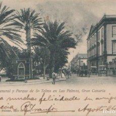 Postales: LAS PALMAS (CANARIAS) - CAPITANIA GENERAL Y PARQUE DE SAN TELMO. Lote 97467955