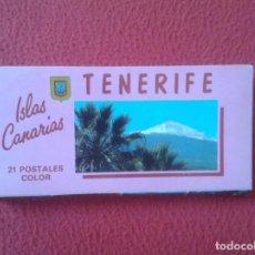 Postales: ACORDEÓN TIRA BLOC ISLAS CANARIAS TENERIFE 21 POSTALES COLOR FISA VER FOTO/S Y DESCRIPCIÓN. POSTAL. Lote 98065999
