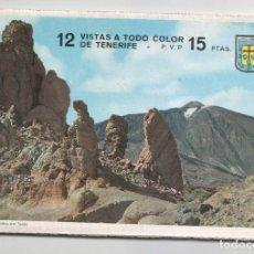 Postales: LIBRITO CON 12 VISTAS A TODO COLOR DE TENERIFE ( EN ACORDEÓN ).EDITADO POR POSTAL OSCAR COLOR.1965. Lote 98484579