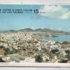 Postales: LIBRITO CON 12 VISTAS A TODO COLOR DE LAS PALMAS ( EN ACORDEÓN ).EDITADO POR POSTAL OSCAR COLOR.1965. Lote 98484647