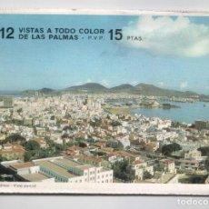 Postales: LIBRITO CON 12 VISTAS A TODO COLOR DE LAS PALMAS ( EN ACORDEÓN ).EDITADO POR POSTAL OSCAR COLOR.1965. Lote 98484771