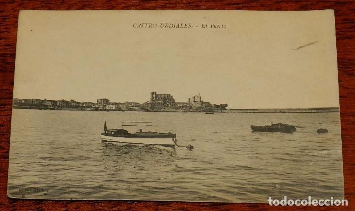 FOTO POSTAL DE CASTRO URDIALES. EL PUERTO. CANTABRIA. NO CIRCULADA. ESCRITA. (Postales - España - Canarias Antigua (hasta 1939))