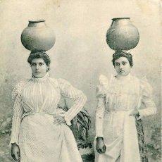 Postales: GRAN CANARIA-AGUADERAS- AÑO 1911- CIRCULADA CON SELLO DE SENEGAL- MUY RARA. Lote 100078443