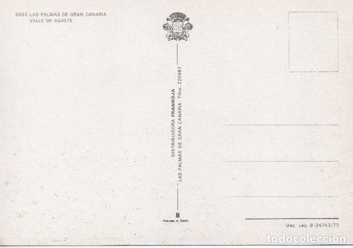 Postales: LAS PALMAS DE GRAN CANARIA . VALLE DE AGAETE .FRANROJA - Foto 2 - 100520031