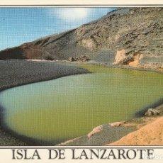 Postales: Nº 32554 POSTAL LANZAROTE EL GOLFO LAGUNA VERDE. Lote 101020003