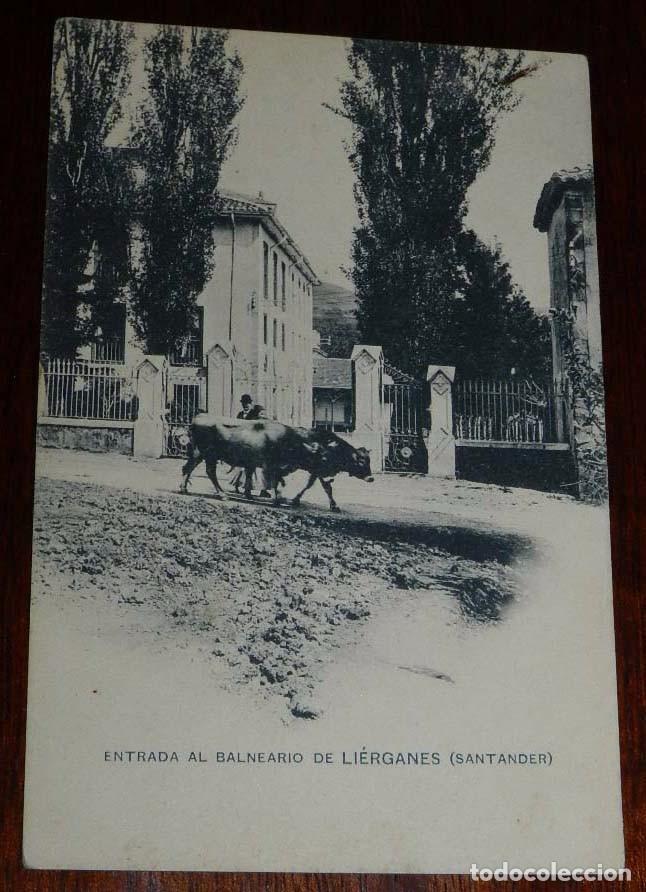 POSTAL DE LIERGANES, CANTABRIA, ENTRADA AL BALNEARIO, SANTANDER, ED. HAUSER Y MENET, NO CIRCULADA. (Postales - España - Canarias Antigua (hasta 1939))