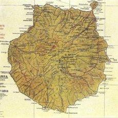 Postales: MAPA DE GRAN CANARIA. Lote 101663759