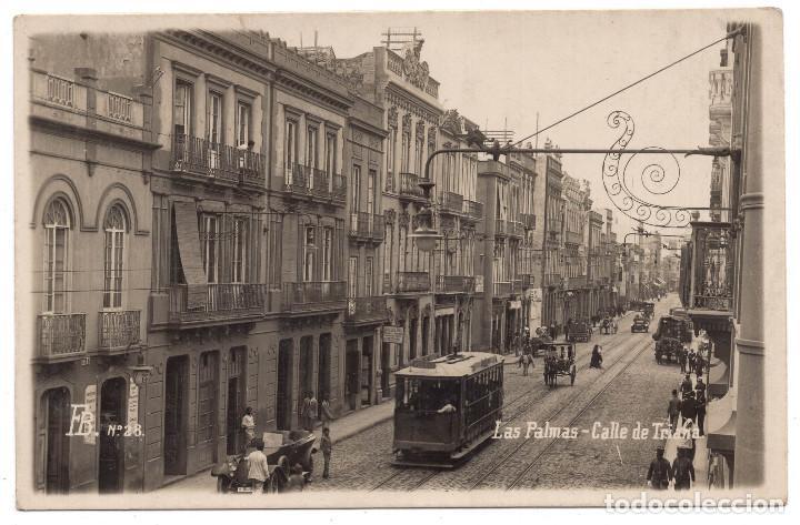 LAS PALMAS. CALLE DE TRIANA. VISTA DE TRANVIA (Postales - España - Canarias Antigua (hasta 1939))