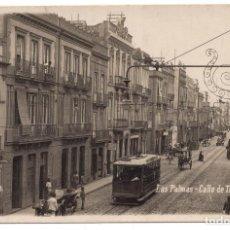 Postales: LAS PALMAS. CALLE DE TRIANA. VISTA DE TRANVIA. Lote 103061879