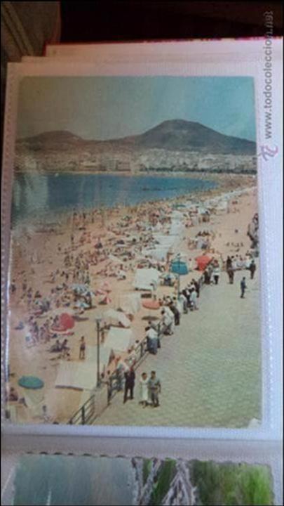 POSTAL DE LAS PALMAS DE GRAN CANARIA. PLAYA DE LAS CANTERAS. AÑOS 80. CIRCULADA (Postales - España - Canarias Moderna (desde 1940))