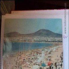 Postales: POSTAL DE LAS PALMAS DE GRAN CANARIA. PLAYA DE LAS CANTERAS. AÑOS 80. CIRCULADA. Lote 40779427