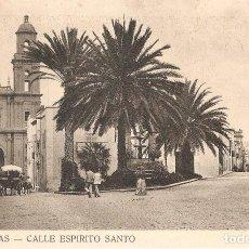 Postales: LAS PALMAS CALLE ESPÍRITU SANTO SIN CIRCULAR. Lote 103906427