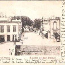 Postales: LAS PALMAS SALUDOS DE LAS PALMAS PUENTE DE PIEDRA POSTAL CIRCULADA EN 1900 SELLO PELÓN EN EL REVERSO. Lote 104081991