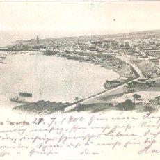 Postales: SANTA CRUZ DE TENERIFE POSTAL CIRCULADA EN 1900. SELLO PELÓN EN EL REVERSO. Lote 104082791
