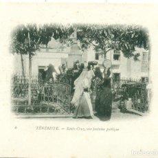 Postales: BUQUE ESCUELA FRANCES DUGUAY TROUIN.CAMPAÑA 1902-03.SANTA CRUZ TENERIFE FUENTE PUBLICA. Lote 105753031